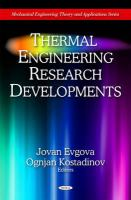 Cover image for Thermal engineering research developments