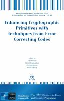 Cover image for Enhancing cryptographic primitives with techniques from error correcting codes