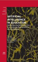 Cover image for Artificial intelligence in education : uilding learning systems that care : from knowledge representation to affective modelling