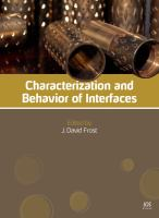 Cover image for Characterization and behavior of interfaces : proceedings of Research Symposium on Characterization and Behavior of Interfaces, 21 September 2008, Atlanta, Georgia, USA
