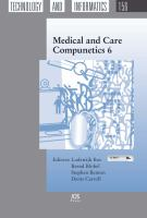 Cover image for Medical and care compunetics 6