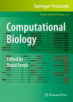 Cover image for Computational biology