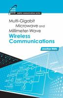 Cover image for Multi-gigabit microwave and millimeter-wave wireless communications