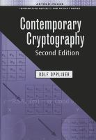 Cover image for Contemporary cryptography