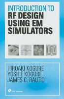 Cover image for Introduction to RF design using EM simulators