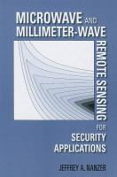 Cover image for Microwave and millimeter-wave remote sensing for security applications