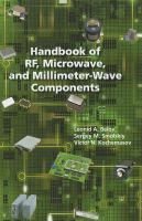 Cover image for Handbook of Rf, Microwave, and Millimeter-wave Components