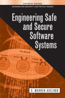 Cover image for Engineering safe and secure software systems