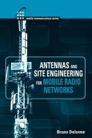 Cover image for Antennas and site engineering for mobile radio networks