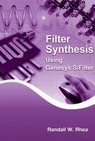 Cover image for Filter synthesis using genesys S/Filter