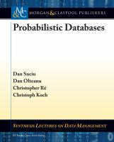 Cover image for Probabilistic databases