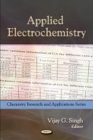 Cover image for Applied electrochemistry