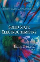 Cover image for Solid state electrochemistry