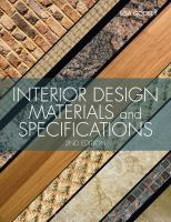 Cover image for Interior design materials and specifications