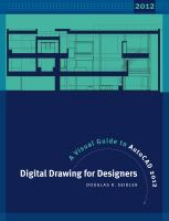 Cover image for Digital drawing for designers : a visual guide to AutoCAD 2012