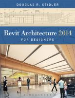 Cover image for Revit architecture 2014 for designers