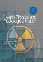 Cover image for Health Physics and Radiological Health
