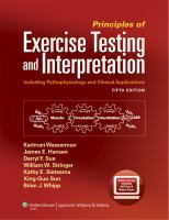 Cover image for Principles of exercise testing and interpretation : including pathophysiology and clinical applications