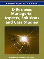 Cover image for E-business managerial aspects, solutions and case studies