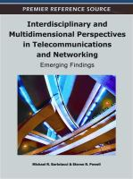 Cover image for Interdisciplinary and multidimensional perspectives in telecommunications and networking : emerging findings
