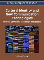 Cover image for Cultural identity and new communication technologies : political, ethnic and ideological implications
