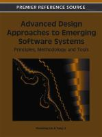 Cover image for Advanced design approaches to emerging software systems : principles, methodologies, and tools