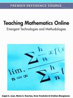 Cover image for Teaching mathematics online : emergent technologies and methodologies