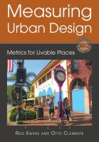 Cover image for Measuring urban design : metrics for livable places