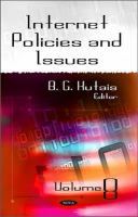 Cover image for Internet policies and issues.  Volume 8