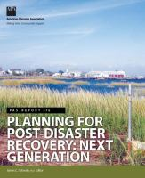 Cover image for Planning for post-disaster recovery : next generation