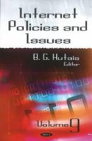 Cover image for Internet policies and issues.  Volume 9