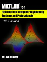 Cover image for MATLAB® for electrical and computer engineering students and professionals, with Simulink®