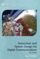 Cover image for Transceiver and system design for digital communications