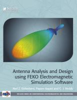 Cover image for Antenna analysis and design using FEKO electromagnetic simulation software
