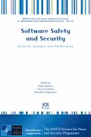 Cover image for Software safety and security : tools for analysis and verification