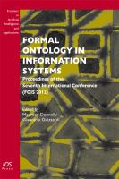 Cover image for Formal ontology in information systems : proceedings of the seventh International Conference (FOIS 2012)