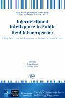 Cover image for Internet-based intelligence in public health emergencies :    early detection and response in disease outbreak crises