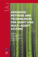 Cover image for Advanced methods and technologies for agent and multi-agent systems
