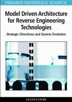 Cover image for Model driven architecture for reverse engineering technologies : strategic directions and system evolution
