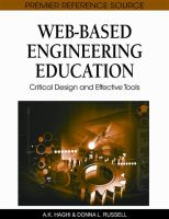 Cover image for Web-based engineering education : critical design and effective tools