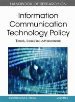 Cover image for Handbook of research on information communication technology policy : trends, issues and advancements