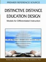 Cover image for Distinctive distance education design : models for differentiated instruction