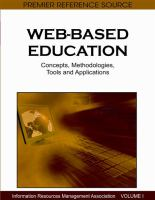 Cover image for Web-based education : concepts, methodologies, tools and applications
