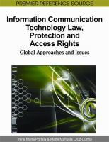 Cover image for Information communication technology law, protection, and access rights : global approaches and issues