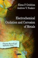 Cover image for Electrochemical oxidation and corrosion of metals