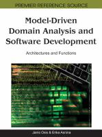 Cover image for Model-driven domain analysis and software development : architectures and functions