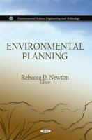 Cover image for Environmental planning