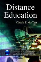 Cover image for Distance education