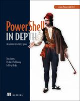 Cover image for Powershell in depth : an administrator's guide