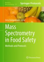 Cover image for Mass spectrometry in food safety : methods and protocols